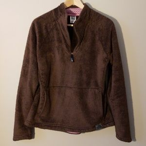 North Face Brown Pink Osito Pullover Fleece
